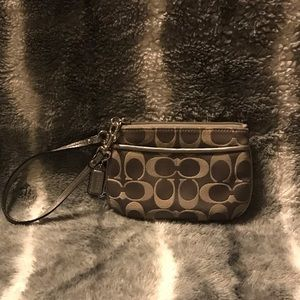 Coach signature wristlet excellent used condition